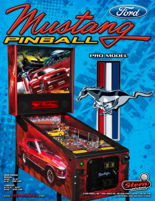 flipper mustang pro stern pinball neuf. Black Bedroom Furniture Sets. Home Design Ideas